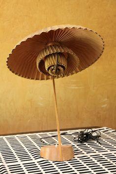 Paper & timber lamp  By Poul Henningsen for Alvar Aalto