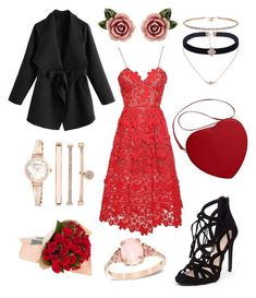 """Valentine's"" by fashionstyleideas4now on Polyvore featuring Jessica Simpson, self-portrait, Anne Klein and Dolce&Gabbana"