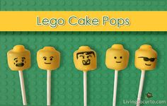 Lego Cake Pops - Fun Lego Birthday Party Idea by Amy at  LivingLocurto.com
