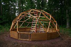 wooden geodesic frame