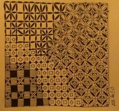 Zentangle grid