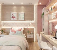 Teen girl bedrooms, check this trick for one surprising sweet teen girl room styling, make-over number 8766011566 Cute Bedroom Ideas, Girl Bedroom Designs, Awesome Bedrooms, Bedroom Themes, Bedroom Decor, Teen Bedroom Colors, Small Room Bedroom, Small Rooms, Dream Rooms