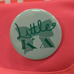 "LITTLE OVER BOW OVER - KAPPA DELTA - BUTTON (2.25"")"