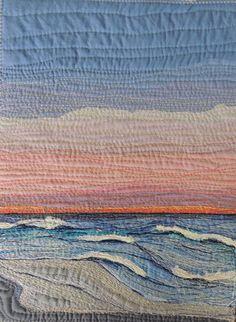 "Art Quilt: Sun and Sky Series 2 ""Endings"""
