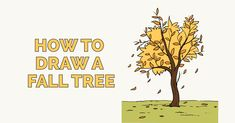 Learn to draw a fall tree. This step-by-step tutorial makes it easy. Kids and beginners alike can now draw a great looking autumn tree. Learn To Draw Flowers, Drawing Tutorials For Kids, Directed Drawing, Drawing Exercises, Scripture Art, Step By Step Drawing, Autumn Trees, Easy Drawings, Animal Drawings