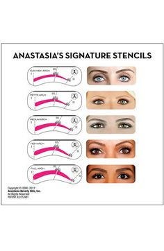 Anastasia's Brow Stencils