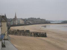 St Malo, la plage