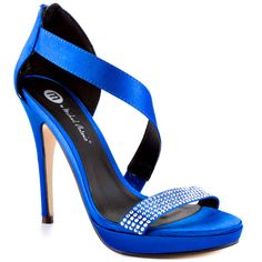 Stunning Women Shoes, Shoes Addict, Beautiful High Heels    Torio - Blue Satin  Michael Antonio