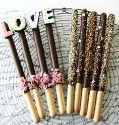 Lange vingers met chocolade
