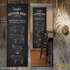 Slagerij - slager snijdt selectie teken - Poster Print - varken rundvlees schapen kip dieren slager snijdt - Art Print Geweldig cadeau idee!   Franse versie kan hier worden gekocht: https://www.etsy.com/listing/211998446/butcher-shop-boucherie-coupes-de-viande  Dit is niet een werkelijke schoolbord maar een digitale kunst geïnspireerd door schoolbord illustraties. Watermerk wordt verwijderd vormen uw drukwerk…