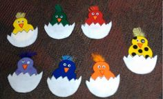 Little Chicks #flannelfriday #flannelboard  #birds #colors #spring