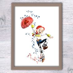 Toy Story art print Jessie watercolor poster by ColorfulPoster