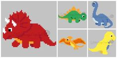 INSTANT DOWNLOAD Dinosaurs Crochet Graph by 2LittleCraigsCrochet Crochet Dinosaur Patterns, Graph Crochet, Baby Afghan Crochet, C2c Crochet, Afghan Crochet Patterns, Cross Stitch Patterns, Dragon Cross Stitch, Beaded Cross Stitch, Dinosaur Blanket