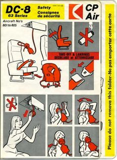Canada Safety Cards - Canada Safety Card - Canada Safetycards - Canada Safetycard - my-safetycard. Pacific Airlines, Douglas Dc 8, Safety, Aircraft, Air Lines, Canada, Archive, Pictures, Prepping