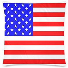 """USA American Flag The Stars and Stripes Custom Rectangle Sofa Home Decorative Throw Pillow Case Cushion Cover Cotton Polyester Twin Side Printing 18""""x 18"""""""