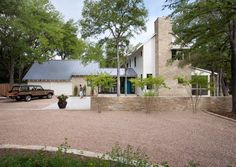 Nice mix of exterior materials and like the gravel driveway How Gravel Driveways Are Built – The Complete Story