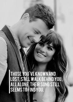 This is so beautiful. Cory and Lea will forever be my favorite celebrity couple. They were so perfect together. Sand Quotes, Words Quotes, Sayings, Great Words, Love Words, Favorite Quotes, Best Quotes, Glee Quotes, Serious Quotes