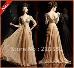 Fashion Long Sleeve Ruched Crystal A line Long Sexy in Evening Dresses from Apparel & Accessories on Aliexpress.com