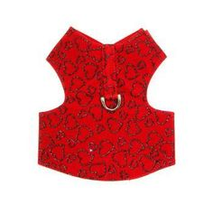 Red Heart Dog Harness by Puppe Love