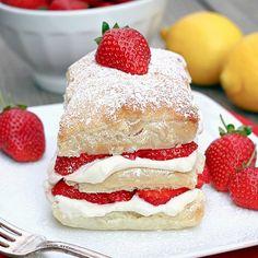 Strawberry Lemon Cream Napoleons