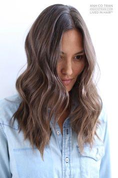 anh co tran brunette balayage #brunettebalayage