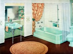 Many older homes still have 1940s bathroom fixtures. Only 55 percent of American homes had indoor plumbing in 1940, according to Lone Star College. People of previous decades perceived the bathroom as a utilitarian room. However, in the 1940s, homeowners decorated the bathroom to reflect their favorite style...
