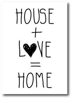 """Kaart """"House + Love"""""""