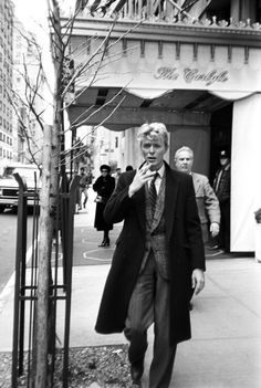David Bowie outside the Carlyle Hotel; circa 1970 Photo: Art Zelin/Getty Images