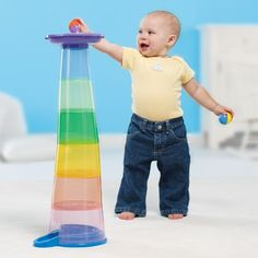 Toddlers Playing with Educational Toys