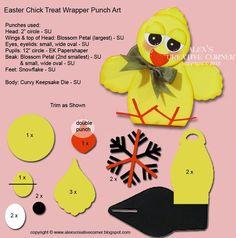 Alex's Creative Corner: Little Chick Easter Treat - Curvy Keepsake - Instructions
