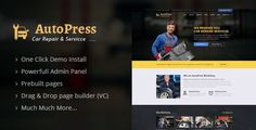 Download AutoPress v1.1 - Car Repair & Services WordPress Theme Nulled Latest Version