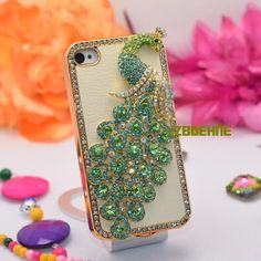 Green bird designer iphone case.