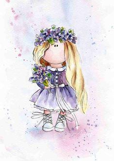 Дизайн: Акварельные иллюстрации от Anell Happy Watercolor