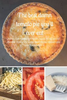 Cooking Recipes, Vegetarian Recipes, Cooks Country Recipes, No Carb Recipes, Country Cooking, Southern Tomato Pie, Vegetable Pie, Fresh Basil, Vegetable Dishes