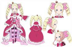 Re:Zero Kara Hajimeru Isekai Seikatsu - Beatrice Character Sheet, Character Concept, Character Design, Anime Kawaii, Kawaii Girl, Anime Figures, Anime Characters, Akame Ga, Beatrice Re Zero
