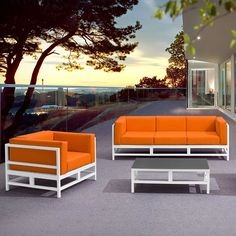 The Swordfish Deep Seating Collection by Zuo Modern is upbeat, urban-casual furniture that will add a splash of modernistic style to your patio.