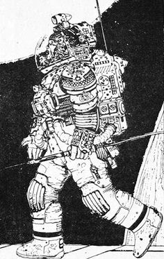Jean Giraud - Moebius, Alien Spacesuit, Alien movie concept art