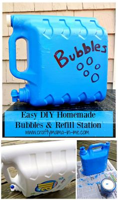 Easy DIY Homemade Bubbles and Refill Station - Crafty Mama in ME!