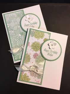Last week I posted a card that I made at Terri's Stamp a Stack. These two cards were from that Stamp a Stack. I wanted to make birthday ...