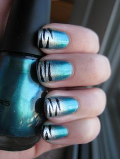 MaD Manis: Faded Tiger Stripe Nails