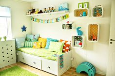 Love the bright colors for Jake's room