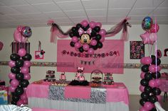 Lexi's Minnie Mouse Pink/Zebra Party