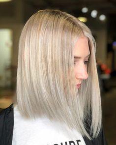 Stylish Lob Hairstyle Best Shoulder Length Hair for Women 2019 - Balayage Haare Blond Kurz Thin Hair Haircuts, Medium Bob Hairstyles, Hairstyles Haircuts, Straight Hairstyles, Lob Haircut Straight, Layered Hairstyles, Medium Hair Styles, Short Hair Styles, Medium Hairs