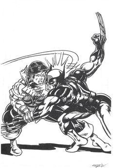 Karate Kid vs.Wolverine by Peter Temple