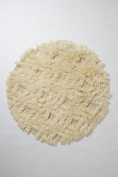 Great round shag rug w/diamond pattern - perfect for a breakfast room with round table! (or a dream bathroom rug maybe)