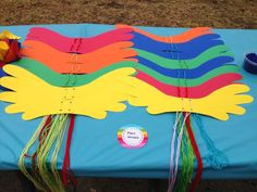 How to throw a My Little Pony party! Make Pegasus wings, pony tails, and pony ears for the kids to wear.