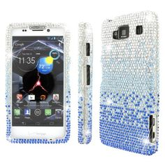 MPERO Collection Diamante Bling Silver and Blue Case for Motorola DROID RAZR MAXX HD XT926M:Amazon:Cell Phones & Accessories