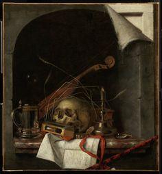Vanitas Still Life Cornelis Norbertus Gijsbrechts, Flemish, active in 1659–1675