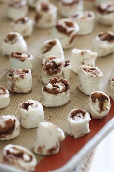 Itty Bitty Cinnamon Rolls.- made w/ refrig. can bisquits