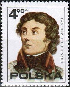 Stamp: Tadeusz Kosciuszko (Poland) (American Revolution, bicentenary) Mi:PL 2406,Sn:PL 2122b,AFA:PL 2289,Pol:PL 2259 American Revolution, Postage Stamps, Movie Posters, Art, Poland, Stamps, Art Background, Film Poster, Popcorn Posters